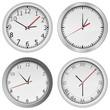 Vector gray wall clocks