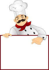 Chef  with panel