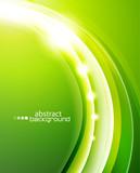Fototapety Green wave background