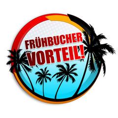 Frühbuchervorteil! Button, Icon