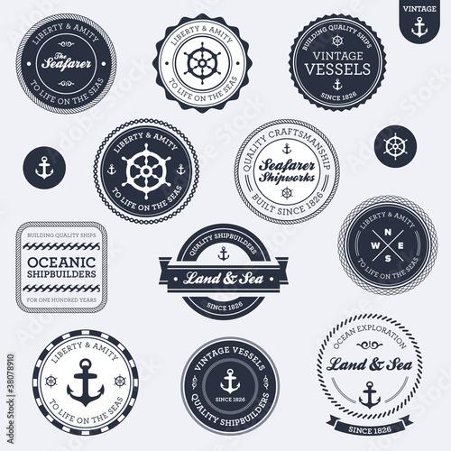 Vintage Nautical Vector Vintage Nautical Labels