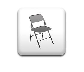 Boton cuadrado blanco silla