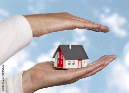 Beschütztes Haus