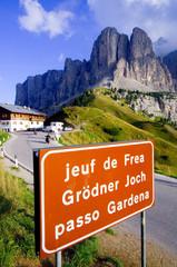 Grödnerjoch und Sellagruppe - Dolomiten - Alpen