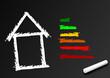Tafel Energiesparhaus