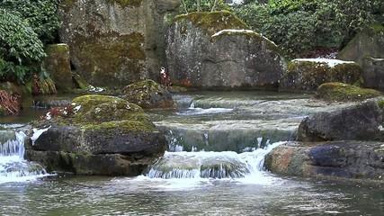 Steine Wasser Japan /Full HD VIDEO