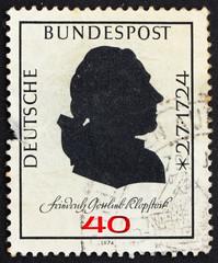 Postage stamp Germany 1974 Friedrich Gottlieb Klopstock, poet