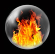 fire inside bubble