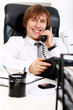 Young and successful businessman talking by phone