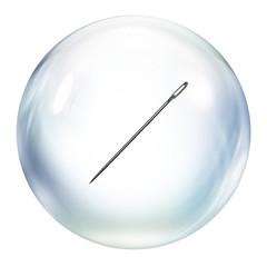 needle inside bubble