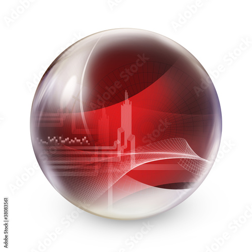 red abstract sphere