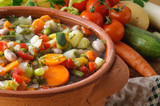 Minestrone di verdure, close-up