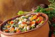 Minestrone di verdure caldo e fumante