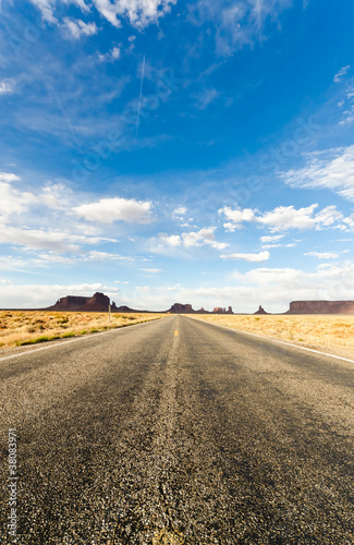 Poster Road to the Monument Valley
