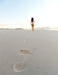 footstep sand beach