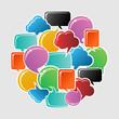 Social media bubbles circle