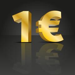 1 Euro 3d Design