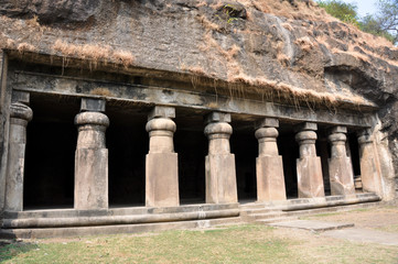 Hindu Temple, Elephanta Island, near Mumbai (India)