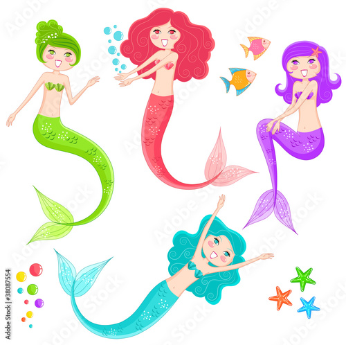 Poster Zeemeermin mermaid collection