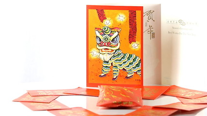 Chinese Dragon Card, Red Pocket