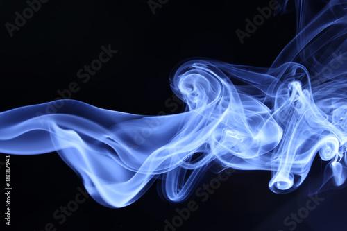 canvas print picture smoke on black
