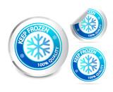 Fototapety Keep frozen label