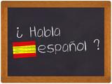 Fototapety Ardoise - Habla espanol - traduction espagnol