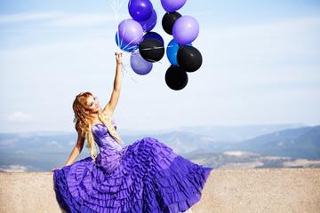 Girl whith balloons