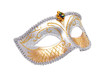 Carnival Venetian mask isolated with clipping path.
