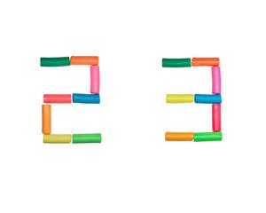 Plasticine alphabet Numbers (2,3)