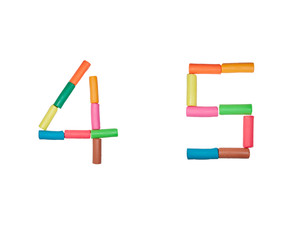 Plasticine alphabet Numbers (4,5)
