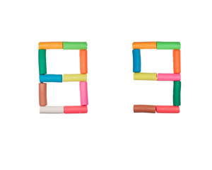 Plasticine alphabet Numbers (8,9)