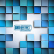 Abstract Blue Squares Background Vector