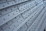 metal plate with rivets, textural background - 38094772