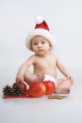 Child and Christmas.