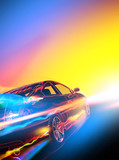 High-speed burning car