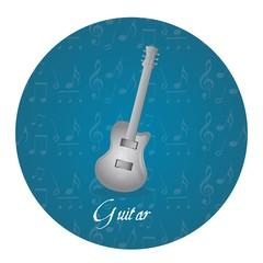 guitar circle tag