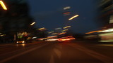 Berlin City Night Driving Time Lapse