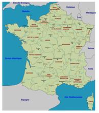 Carte de France - Regiony