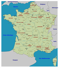 Carte de France - Régions