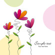 Bright flower vector background
