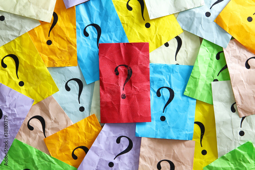 Leinwandbild Motiv Fragen über Fragen