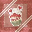 Dolcetto di San Valentino - Vintage Valentine's cupcake