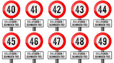 Geburtstag - Rollatoren und Gehwagen frei 40er
