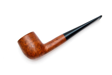 Tobacco pipe isolated on white