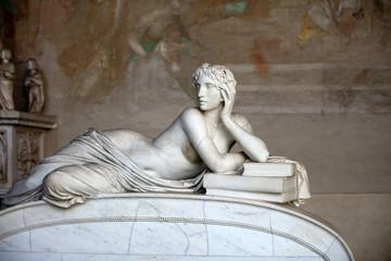 Pisa Campo Santo: reclining figure represents the Science.
