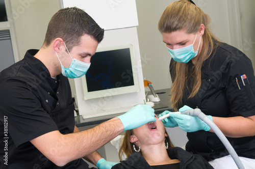 Patient at the dental practice