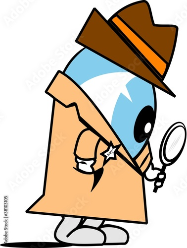 detective seach engine cartoon