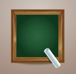 school board icon with chalk - vector illustration