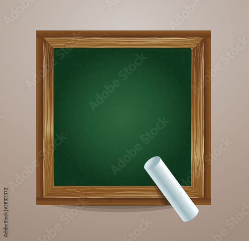 school board icon with chalk - vector illustration